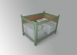 Contenitore cesta in rete con porta lato lungo