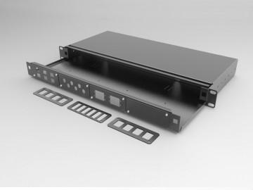 Cassetto ottico 1 HE apribile con 4 frontalini intercambiabili