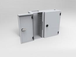Cassetto ottico a muro con chiusure a serratura