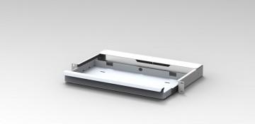 Cassetto estraibile porta tastiera per rack 19″