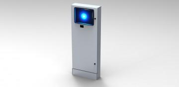 Colonna a muro per monitor touch screen