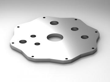 Piastra serbatoio in alluminio