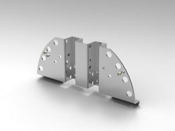 Staffa in alluminio