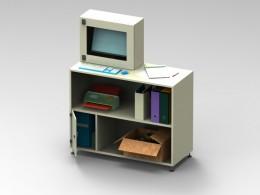 Armadio porta computer con mensola