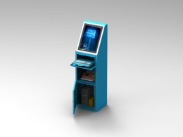 Totem touch screen porta tastiera