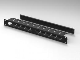 Pannello rack 19 con passacavi con canala in ferro