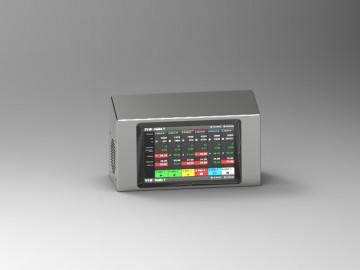 Porta display inox per controllo produzione