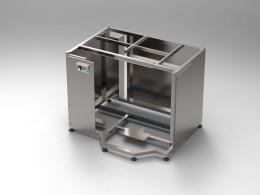 Telaio inox industriale per macchinari