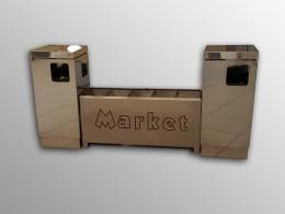 Set cestini INOX con portaombrelli