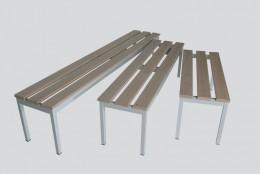 Panca 4 posti struttura tubolare