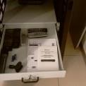 Cassetto estraibile porta oggetti 1HE/2HE 1