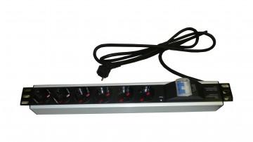 Barra di alimentazione a 6 prese + interruttore magnetotermico