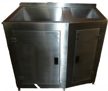 Lavello due vasche in acciaio inox