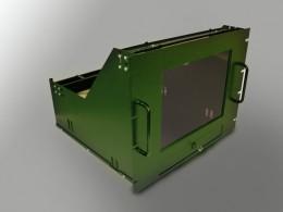 Cabinet rack per supporto monitor 14″ 15″  con vetro