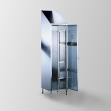 Armadio portascope e attrezzi pulizia con divisorio interno cam arredamenti metallici e - Portaoggetti armadio ...