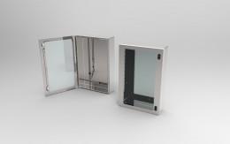 Casse INOX con porta trasparente