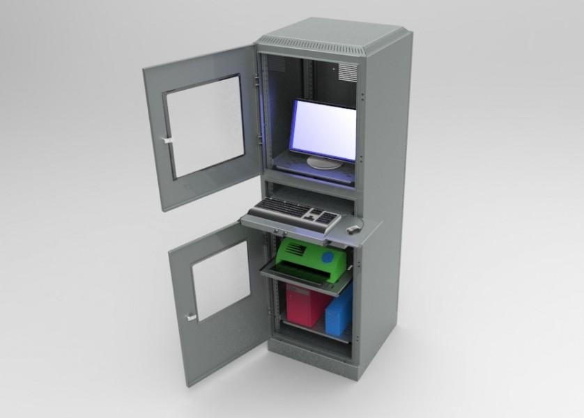 Armadio porta computer e accessori cam srl arredamenti - Mobile per computer a scomparsa ...