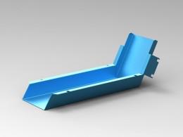 Canalina inclinata in alluminio tagliata al laser