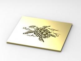 Piastra design tartaruga in ottone