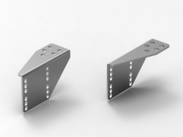 Staffa di supporto bilaterale in ferro tagliato al laser