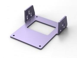 Supporto in alluminio tagliato al laser