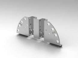 Staffa alluminio tagliata al laser