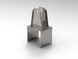 Supporti INOX per ventilazione industriale tagliati al laser