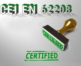 La CAM srl è conforme alla normativa CEI EN 62208