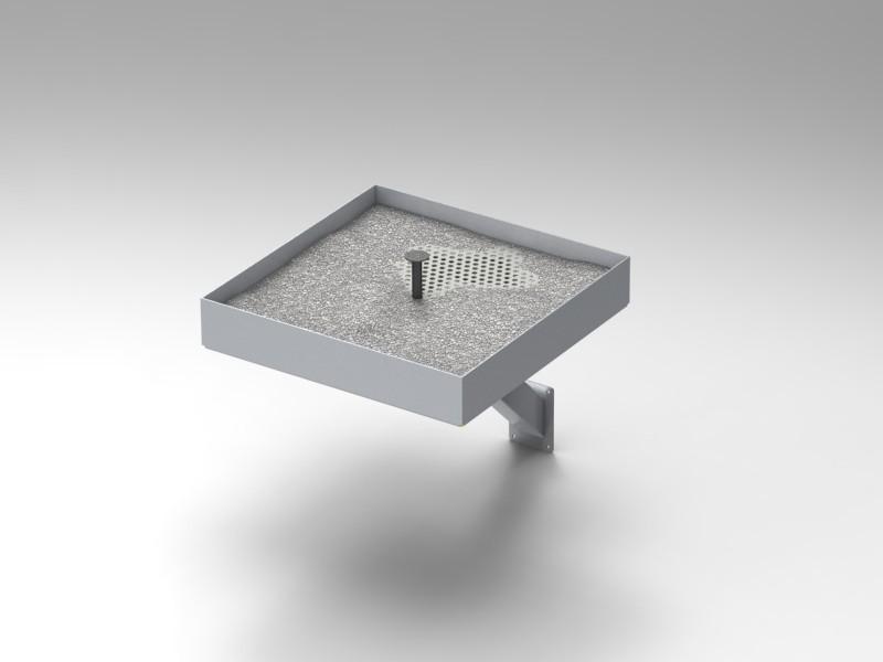 Posacenere da esterno a muro cam arredamenti metallici e for Vaschetta da esterno