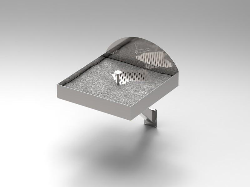 Posacenere Inox Da Esterno A Muro Cam Arredamenti Metallici