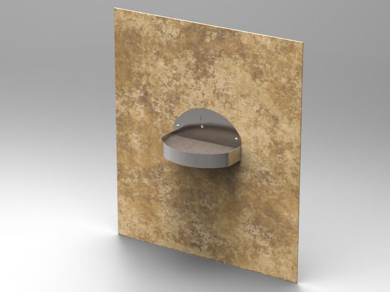 Posacenere da esterno a muro cam arredamenti metallici for Posacenere da esterno ikea