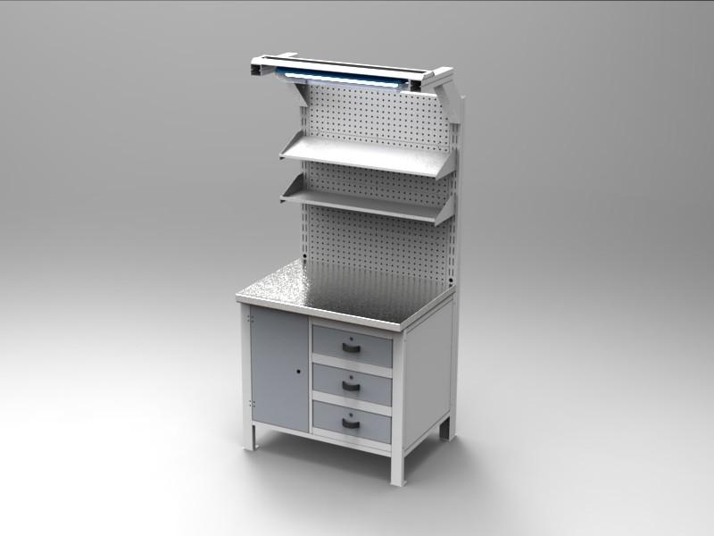 Tavolo Da Lavoro Acciaio : Banco da lavoro in acciaio inox cam arredamenti metallici