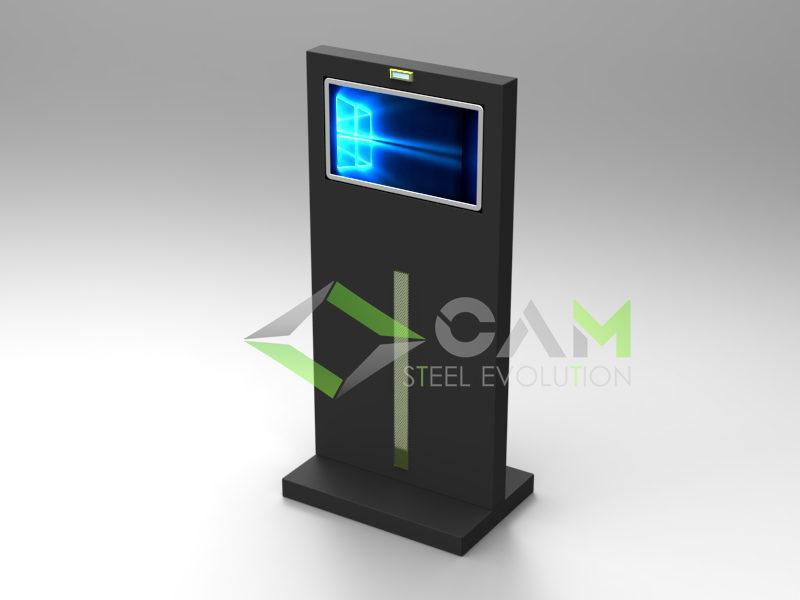 Totem multimediale con webcam cam arredamenti metallici - Tavolo multimediale ...