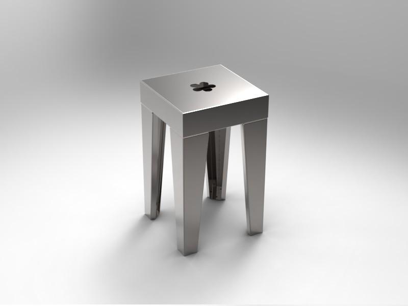 Sgabello su design mod h cam arredamenti metallici