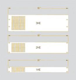 """Pannelli 19"""" = 482,6xHE – Alluminio spessore mm 3"""