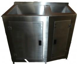 Lavello due vasche in inox